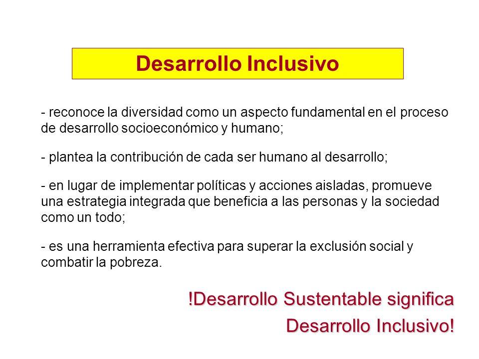 - reconoce la diversidad como un aspecto fundamental en el proceso de desarrollo socioeconómico y humano; - plantea la contribución de cada ser humano