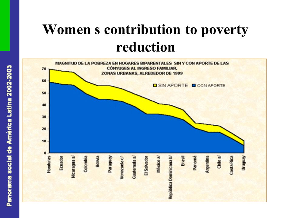 Panorama social de América Latina 2002-2003 Women s contribution to poverty reduction