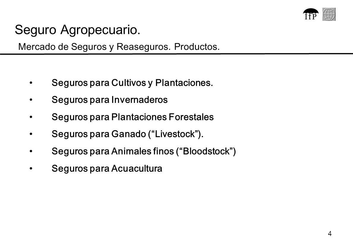 4 Seguros para Cultivos y Plantaciones. Seguros para Invernaderos Seguros para Plantaciones Forestales Seguros para Ganado (Livestock). Seguros para A