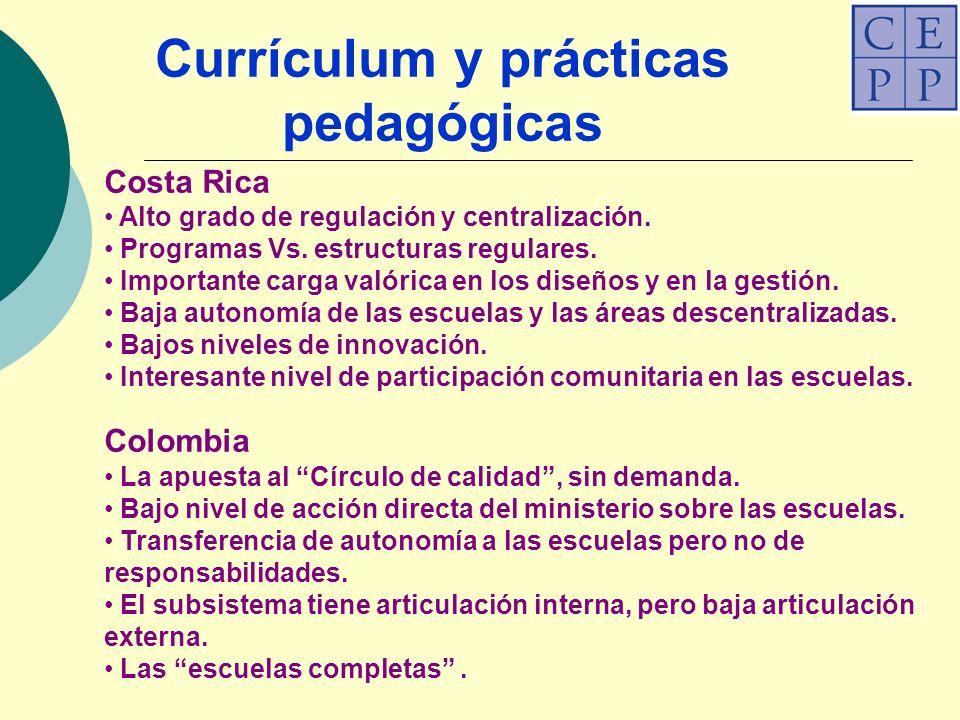 Costa Rica Alto grado de regulación y centralización.