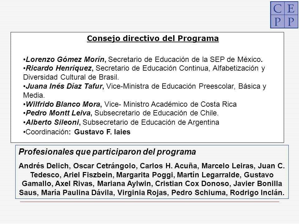 Profesionales que participaron del programa Andrés Delich, Oscar Cetrángolo, Carlos H.