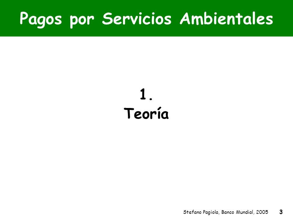 Stefano Pagiola, Banco Mundial, 2005 3 Pagos por Servicios Ambientales 1. Teoría