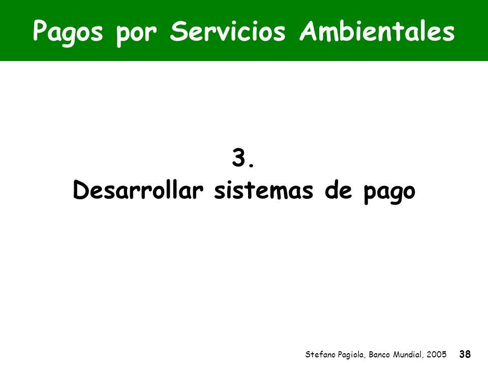 Stefano Pagiola, Banco Mundial, 2005 38 Pagos por Servicios Ambientales 3. Desarrollar sistemas de pago