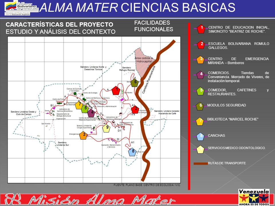 ALMA MATER CIENCIAS BASICAS CARACTERÍSTICAS DEL PROYECTO ESTUDIO Y ANÁLISIS DEL CONTEXTO FACILIDADES FUNCIONALES CENTRO DE EDUCACION INICIAL, SIMONCIT