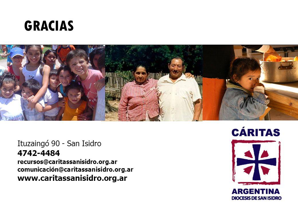 Ituzaingó 90 - San Isidro 4742-4484 recursos@caritassanisidro.org.ar comunicación@caritassanisidro.org.ar www.caritassanisidro.org.ar GRACIAS