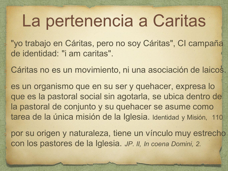 La pertenencia a Caritas