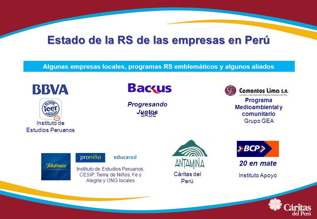 20 en mate Instituto de Estudios Peruanos, CESIP, Tierra de Niños, Fe y Alegría y ONG locales Instituto de Estudios Peruanos Instituto Apoyo Programa