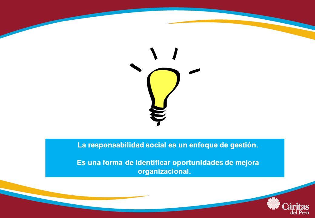 La responsabilidad social es un enfoque de gestión. Es una forma de identificar oportunidades de mejora organizacional.