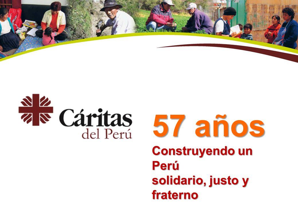 57 años Construyendo un Perú solidario, justo y fraterno