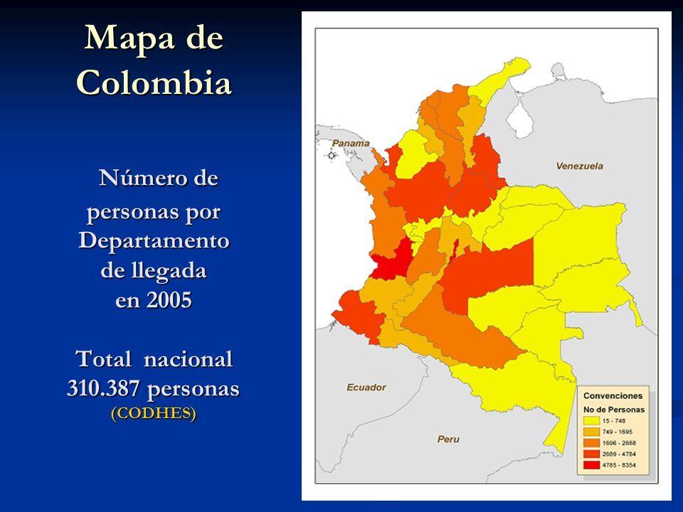 Propuestas de recomendaciones Exhortar al Gobierno colombiano a que aplique los Principios Rectores de los Desplazamientos Internos en lo que se refiere a las soluciones duraderas alternativas al retorno: reasentamiento y reintegración local.