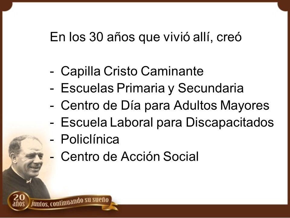 El 19 de agosto de 1992, el Padre Mario fallece en Buenos Aires ¿cómo continuar con su Obra.