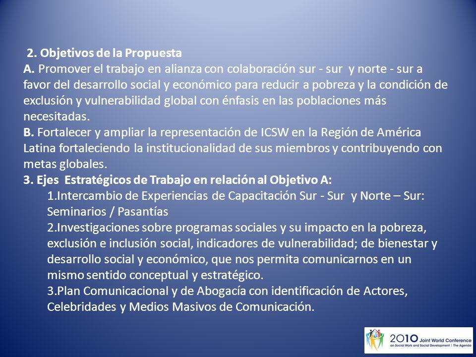 2. Objetivos de la Propuesta A.