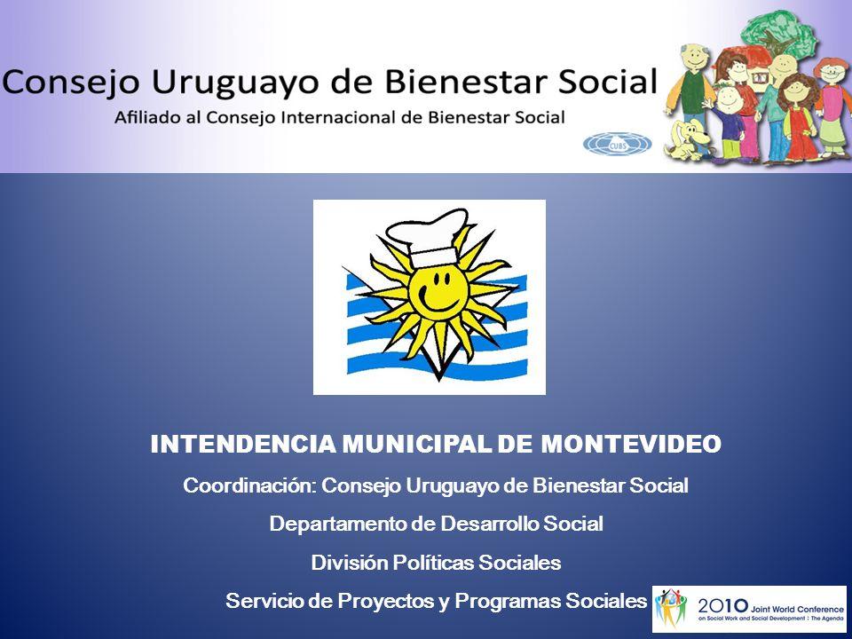 INTENDENCIA MUNICIPAL DE MONTEVIDEO Coordinación: Consejo Uruguayo de Bienestar Social Departamento de Desarrollo Social División Políticas Sociales Servicio de Proyectos y Programas Sociales