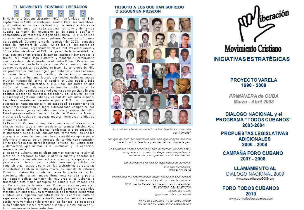 EL MOVIMIENTO CRISTIANO LIBERACIÓN El Movimiento Cristiano Liberación (MCL) fue fundado el 8 de septiembre de 1988.