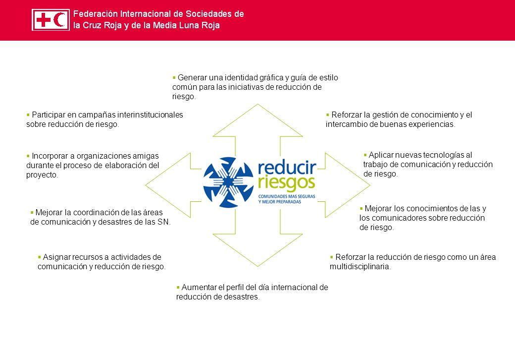 c Generar una identidad gráfica y guía de estilo común para las iniciativas de reducción de riesgo.