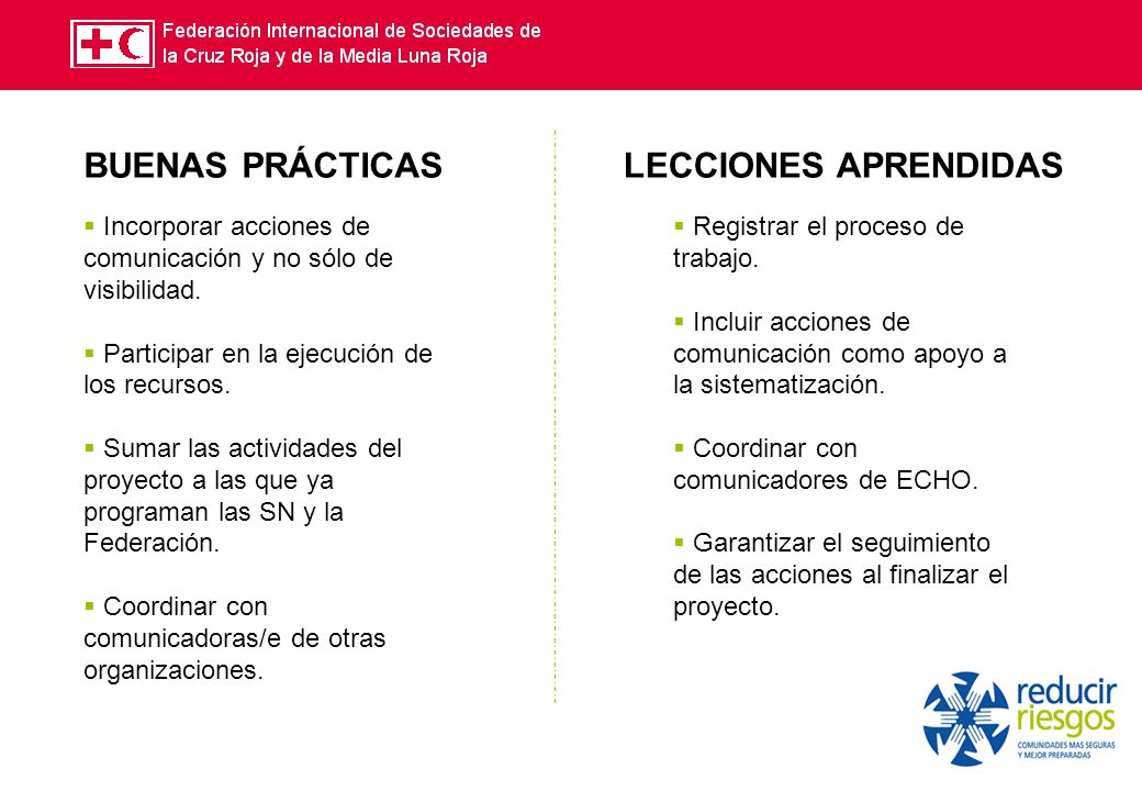 c Incorporar acciones de comunicación y no sólo de visibilidad.