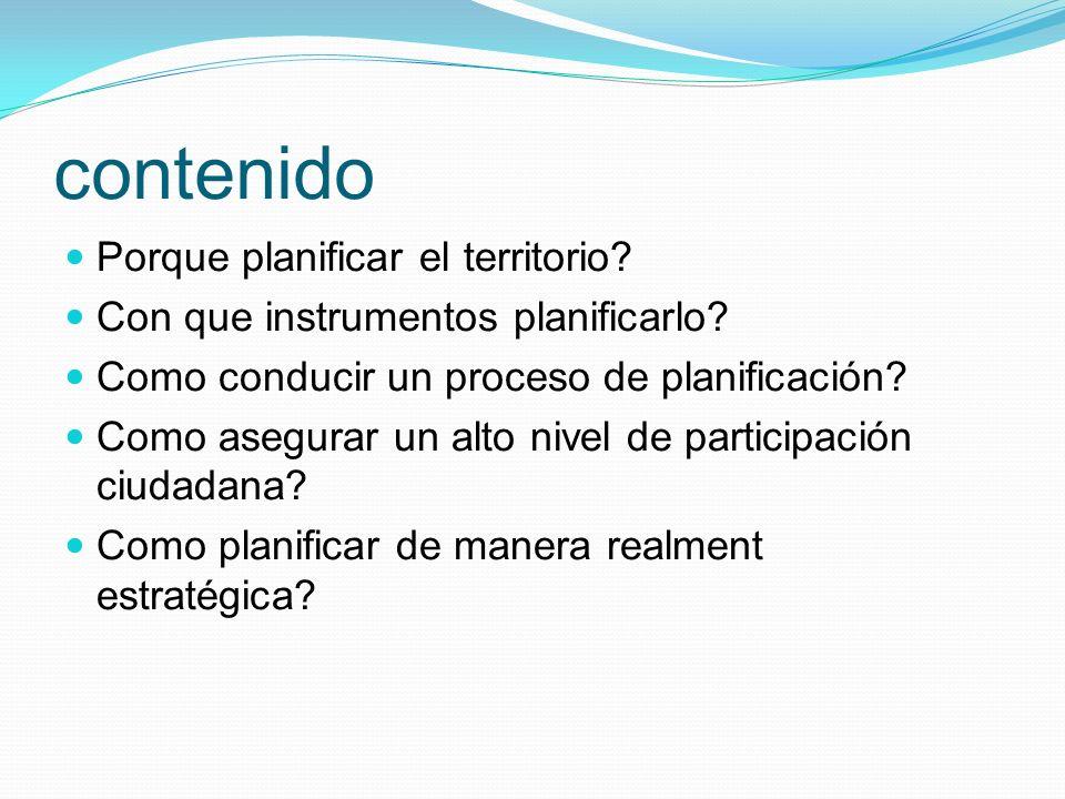 Proceso del Proyecto de Territorio (2) La tercera etapa es de PROSPECTIVA.