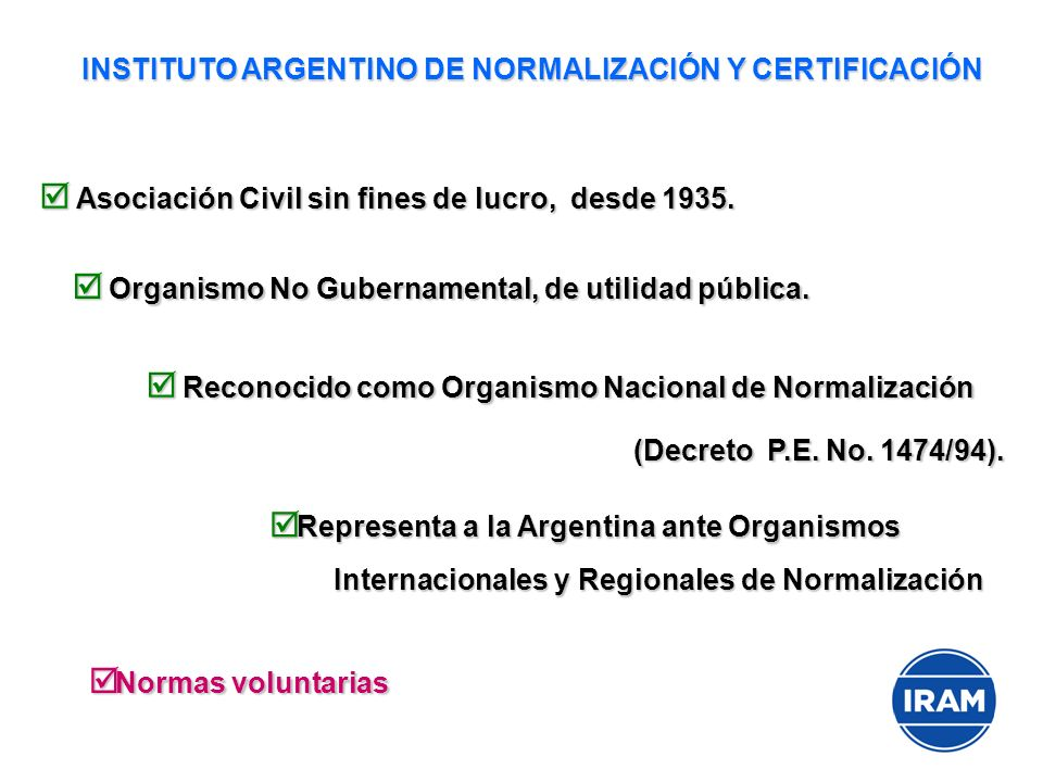 Asociación Civil sin fines de lucro, desde 1935. Asociación Civil sin fines de lucro, desde 1935. Organismo No Gubernamental, de utilidad pública. Org