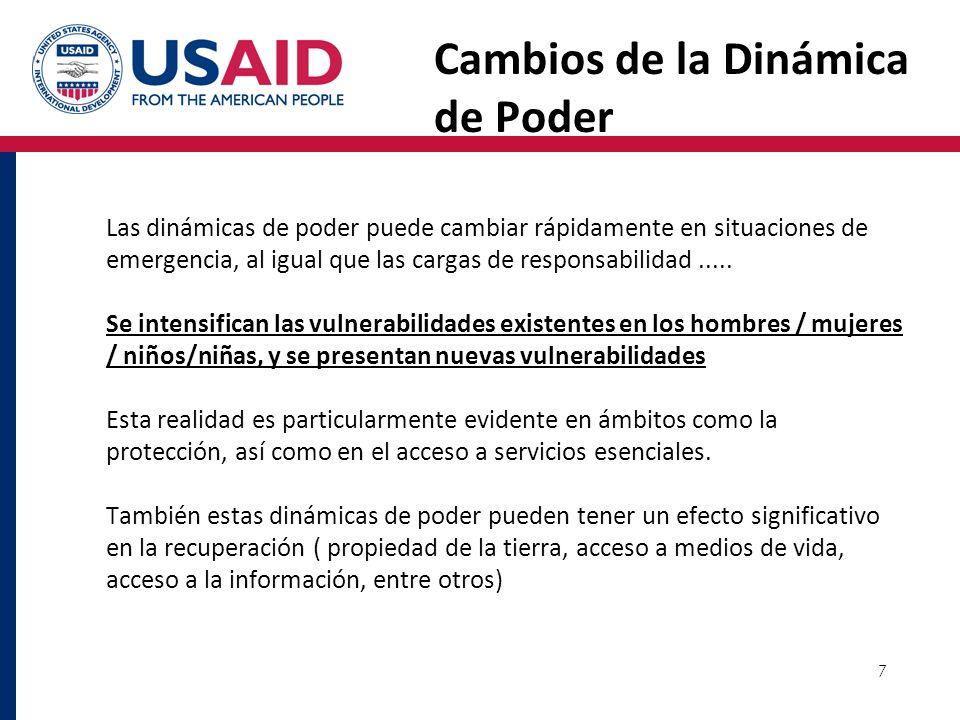 8 Igualdad De Genero La igualdad de género en situaciones de desastre consiste en garantizar que la protección y asistencia en situaciones de emergencia se planifica y ejecuta de una manera que beneficie a las mujeres y hombres por igual.