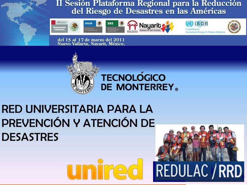 RED UNIVERSITARIA PARA LA PREVENCIÓN Y ATENCIÓN DE DESASTRES