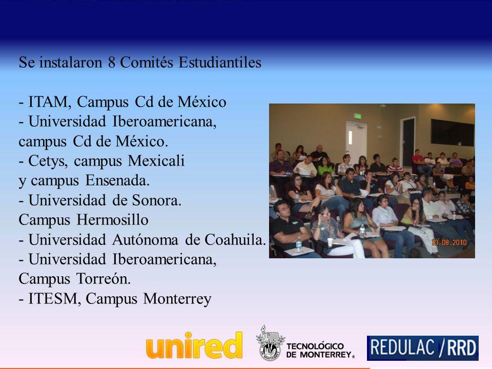 Se instalaron 8 Comités Estudiantiles - ITAM, Campus Cd de México - Universidad Iberoamericana, campus Cd de México.