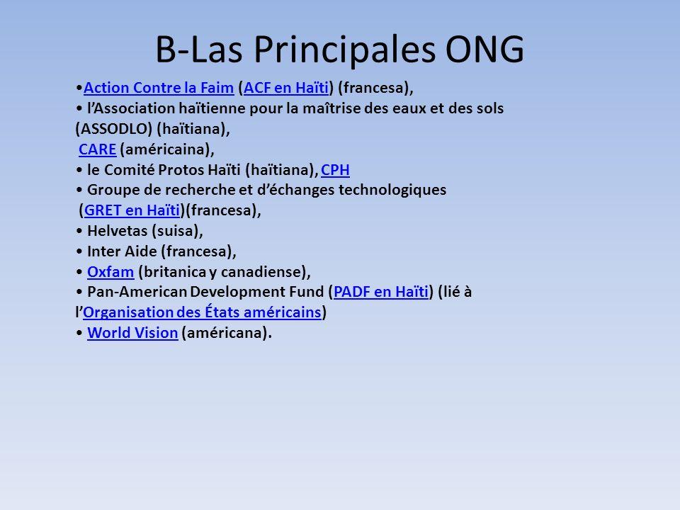 B-Las Principales ONG Action Contre la Faim (ACF en Haïti) (francesa),Action Contre la FaimACF en Haïti lAssociation haïtienne pour la maîtrise des ea