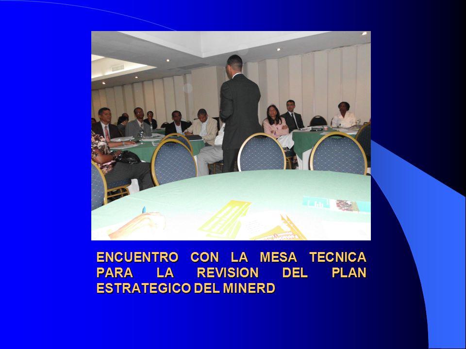 ENCUENTRO CON LA MESA TECNICA PARA LA REVISION DEL PLAN ESTRATEGICO DEL MINERD
