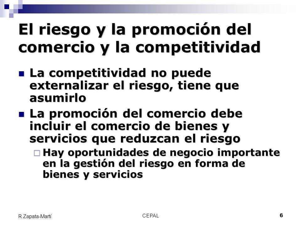 CEPAL27 R.Zapata-Martí Gracias Ricardo Zapata-Marti Punto Focal Evaluación de desastres Sede Subregional de CEPAL en México ricardo.zapata@cepal.org www.cepal.org/mexico (desastres)