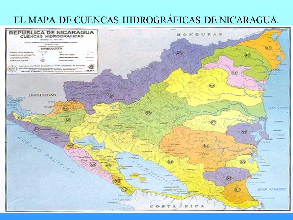 EL MAPA DE CUENCAS HIDROGRÁFICAS DE NICARAGUA.