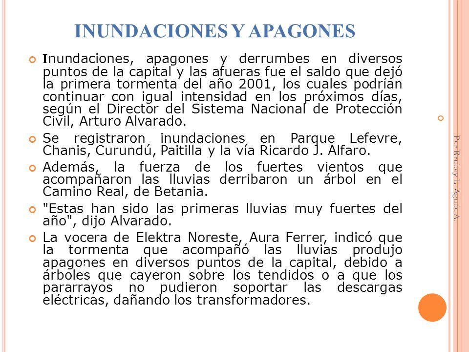 LA FURIA DE LA TORMENTA COBRA TRES VIDAS (27 DE MAYO) L a primera persona que murió ahogada, a consecuencia de las inundaciones, fue la señora Eugenia Vidal Marmolejo, de 41 años, quien resbaló y cayó en una alcantarilla en el sector de Ojo de Agua en San Miguelito.