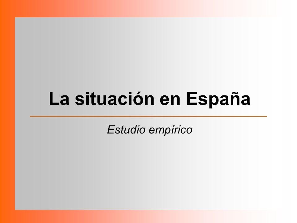 La situación en España Estudio empírico