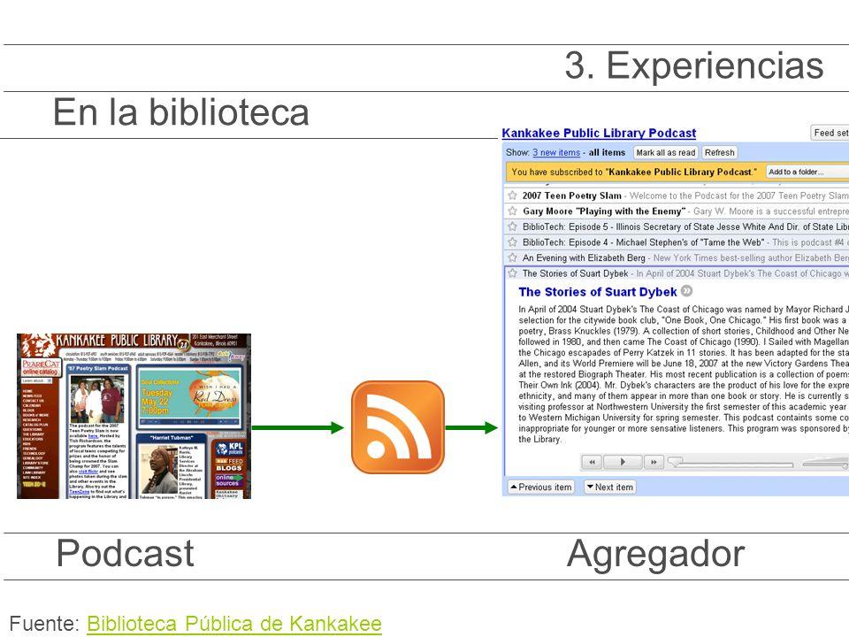 PodcastAgregador En la biblioteca 3.