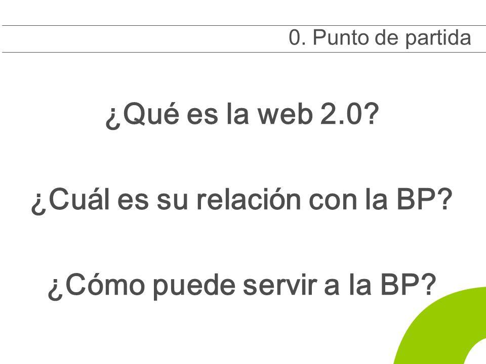 0 ¿Qué es la web 2.0. ¿Cuál es su relación con la BP.