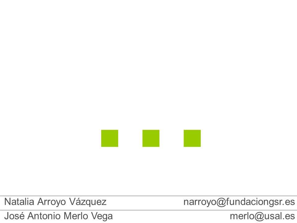 Natalia Arroyo Vázquez José Antonio Merlo Vega narroyo@fundaciongsr.es merlo@usal.es …