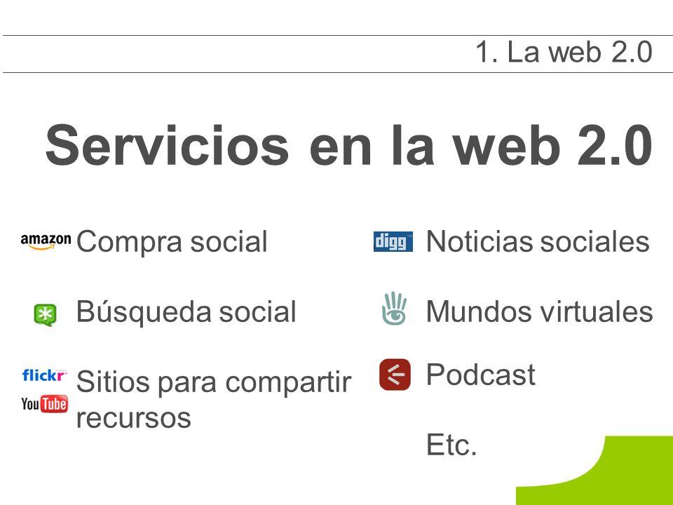 Compra social Búsqueda social Sitios para compartir recursos 1 1.