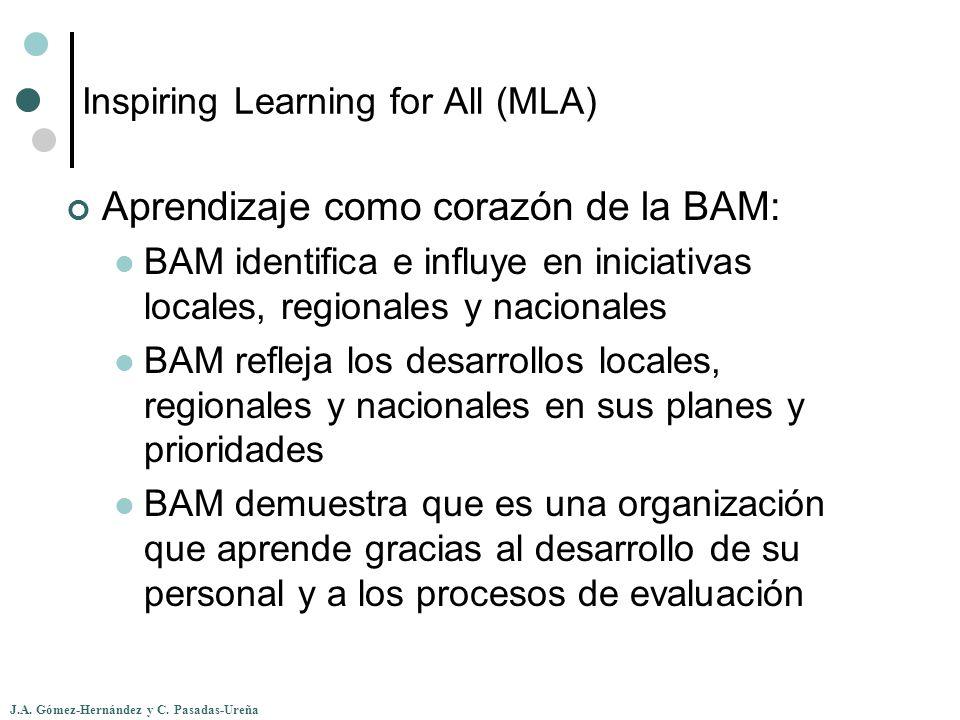 J.A. Gómez-Hernández y C. Pasadas-Ureña Inspiring Learning for All (MLA) Aprendizaje como corazón de la BAM: BAM identifica e influye en iniciativas l