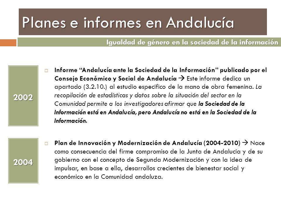 Planes e informes en Andalucía Informe Andalucía ante la Sociedad de la Información publicado por el Consejo Económico y Social de Andalucía Este info