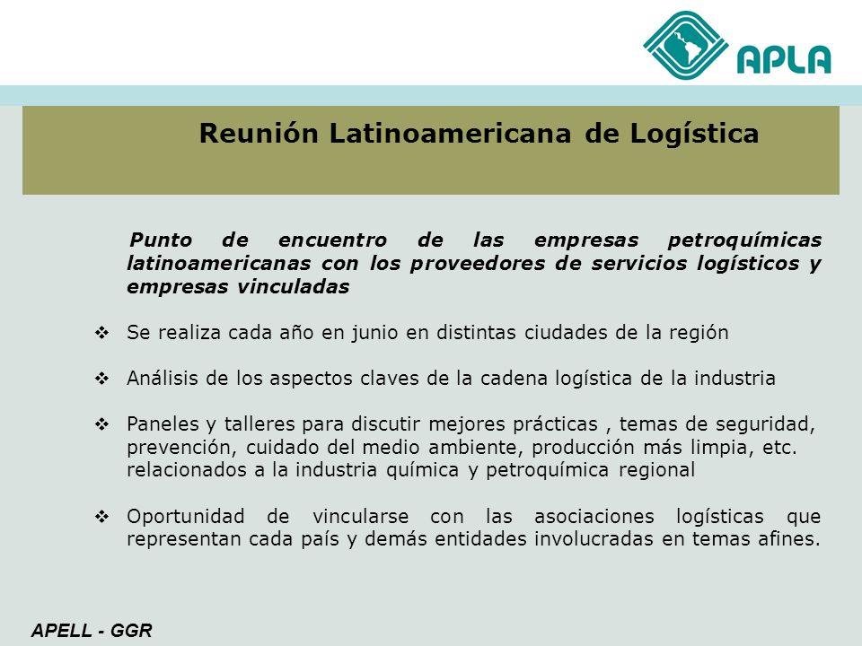 Reunión Latinoamericana de Logística Punto de encuentro de las empresas petroquímicas latinoamericanas con los proveedores de servicios logísticos y e