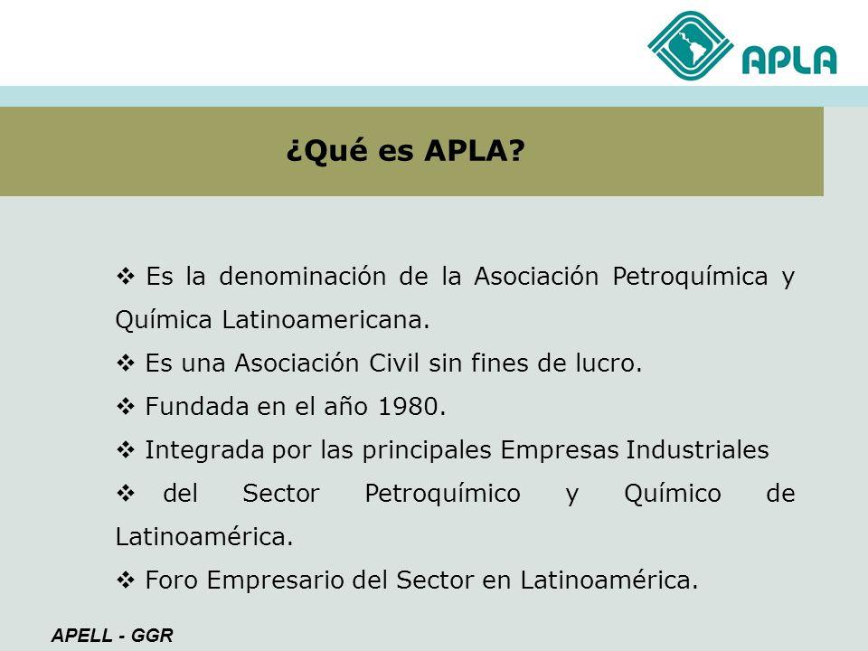 Ser facilitadora del desarrollo de negocios sustentables para la Industria Petroquímica y Química de Latinoamérica Misión Promover espacios de encuentro y contactos entre las empresas del sector, alentando las relaciones personales entre sus representantes.