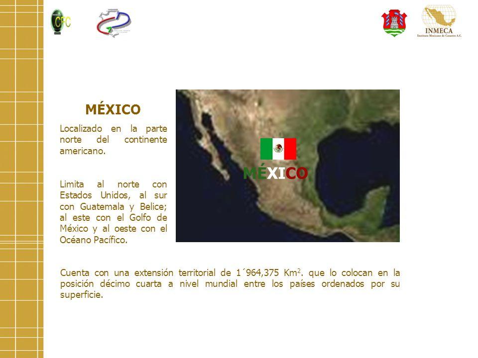 Cuenta con una extensión territorial de 1´964,375 Km 2. que lo colocan en la posición décimo cuarta a nivel mundial entre los países ordenados por su