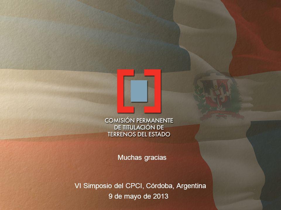 VI Simposio del CPCI, Córdoba, Argentina 9 de mayo de 2013 Muchas gracias