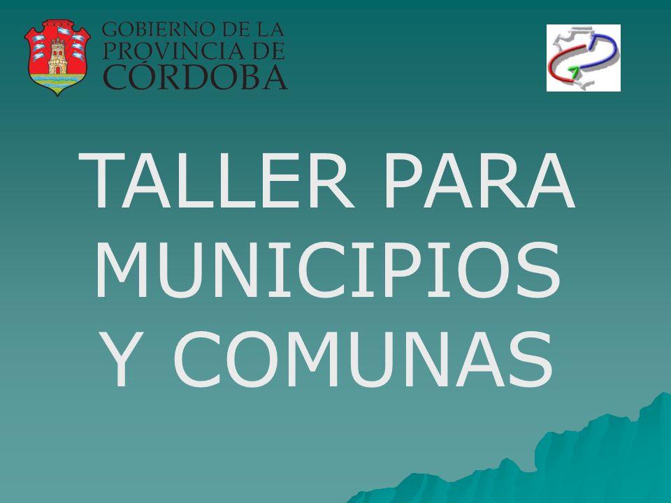 TALLER PARA MUNICIPIOS Y COMUNAS