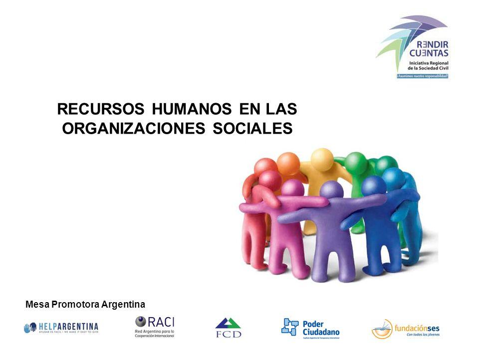 RECURSOS HUMANOS EN LAS ORGANIZACIONES SOCIALES