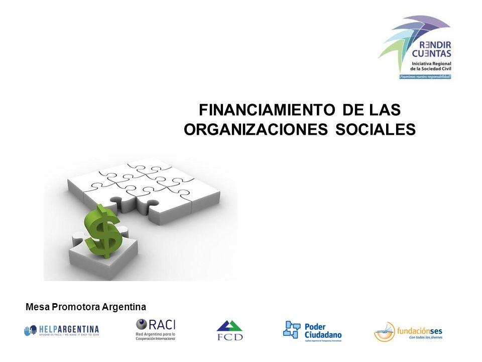 FINANCIAMIENTO DE LAS ORGANIZACIONES SOCIALES