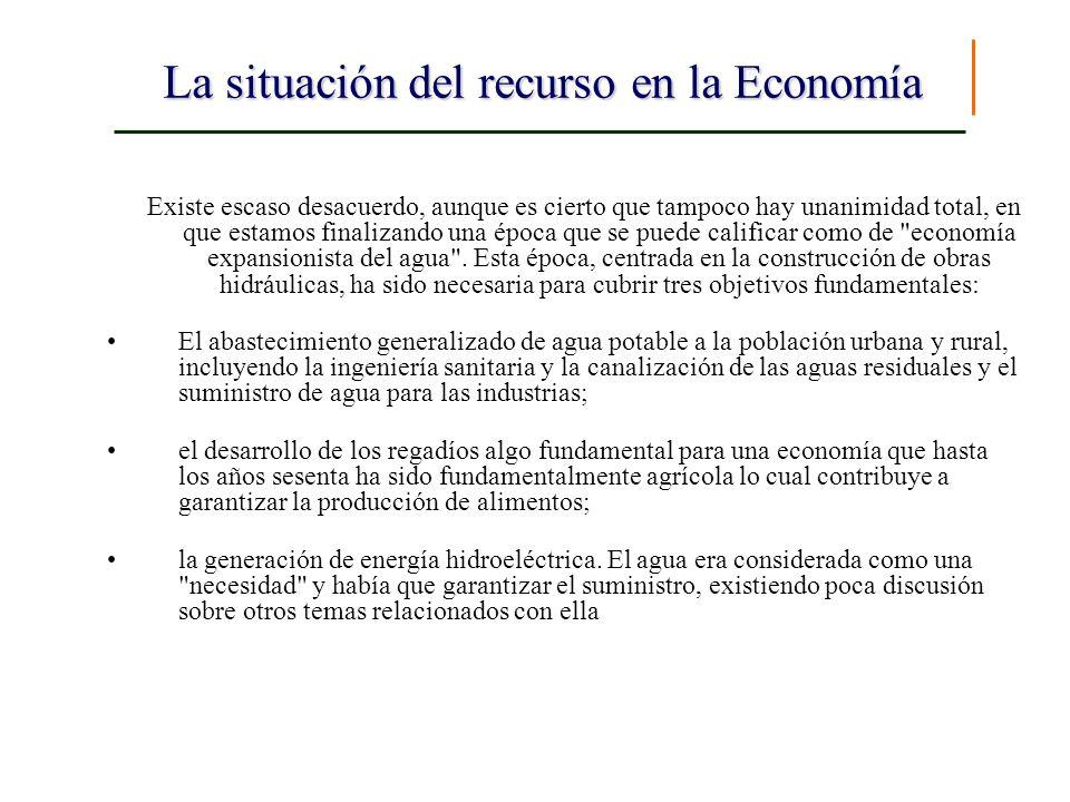 La situación del recurso en la Economía Existe escaso desacuerdo, aunque es cierto que tampoco hay unanimidad total, en que estamos finalizando una ép