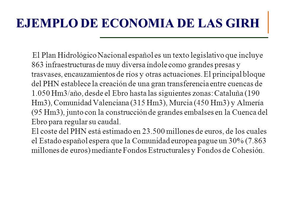 El Plan Hidrológico Nacional español es un texto legislativo que incluye 863 infraestructuras de muy diversa índole como grandes presas y trasvases, e
