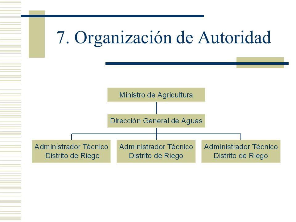 7. Organización de Autoridad