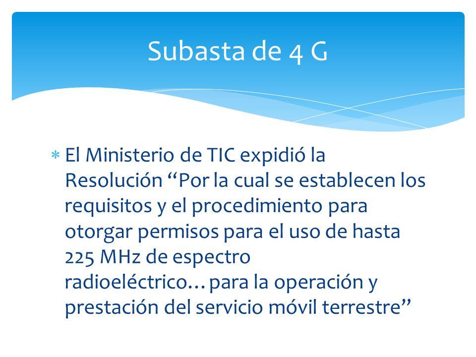 El Ministerio de TIC expidió la Resolución Por la cual se establecen los requisitos y el procedimiento para otorgar permisos para el uso de hasta 225