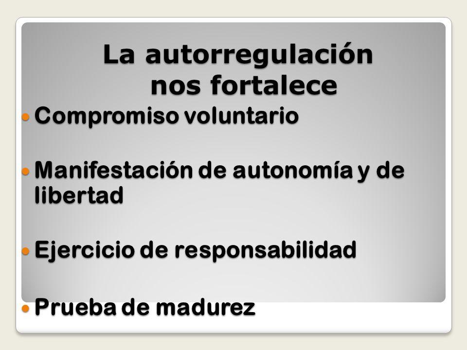Compromiso voluntario Compromiso voluntario Manifestación de autonomía y de libertad Manifestación de autonomía y de libertad Ejercicio de responsabil