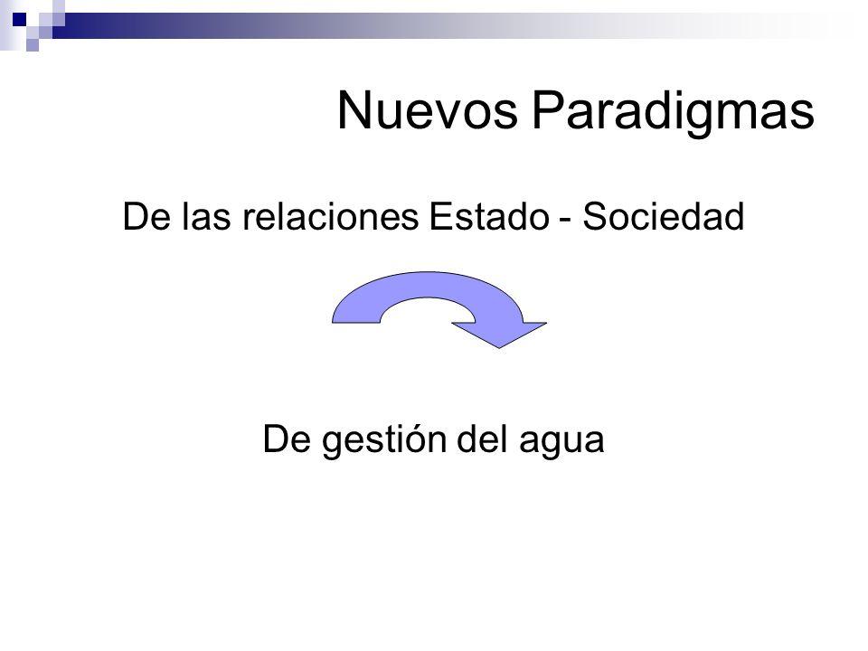 Nuevos Paradigmas De las relaciones Estado - Sociedad De gestión del agua
